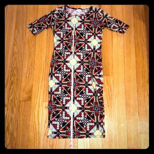 Lularoe Dress XS Julia - fitted Aztec print